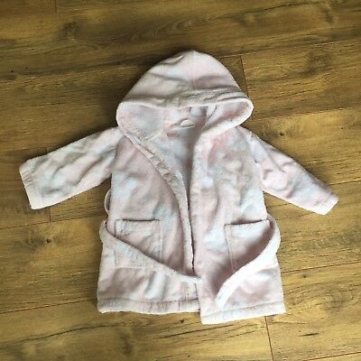 White Company Dressing Gown 12-18 Months Baby Pink