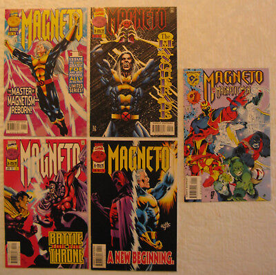 Magneto 1-4, complete series, VF+ - NM & Magneto and the Magnetic Men, NM-, 1996