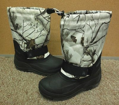 NEW $80 KAMIK Bluster 2 Camo Little Boys Waterproof Neoprene Winter Boots Sz 10
