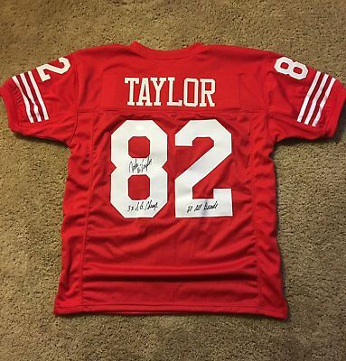 John Taylor Autographed Custom Jersey With Two Inscriptions   Jsa  Certificate ed1560437