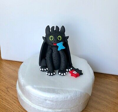 Edible Cake Toppers Toothless night Fury Dragon Boy Girl Birthday Decorating