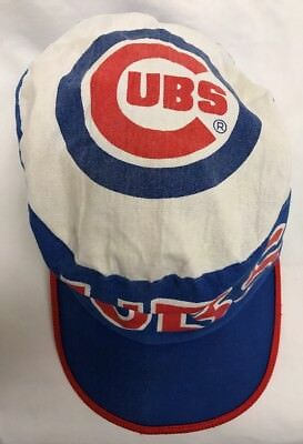 VINTAGE CHICAGO CUBS Painters Hat BASEBALL Throwback 80s! Sz-Med ... 5c9675b14b9