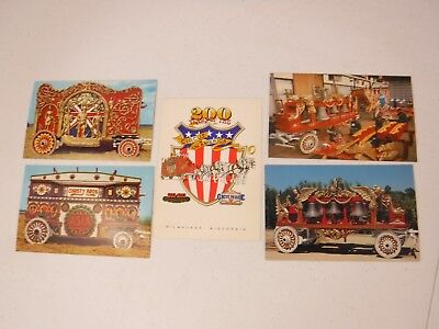 Baraboo, Wisconsin CIRCUS WORLD Museum Postcards + 200 Years of the Circus