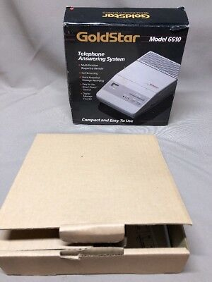 GoldStar Model 6610 Telephone Answering System No AC Adapter