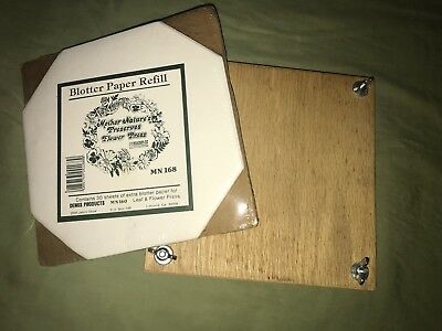 Wooden Square Leaf & Flower Press with Blotter Paper Refill 30 Sheets