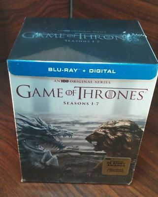 Game of Thrones: 1-7 Seasons (Blu-ray+Digital HD,2017)NEW-Free S&H with Tracking