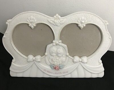 Precious Moments Wedding Anniversary Heart 1995 Photo Frame To Have and To Hold
