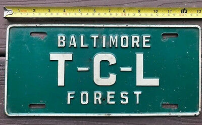 1950s? Maryland license plate  Baltimore Tall Cedars Lebanon  T-C-L