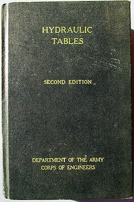 1944 Hydraulic Tables -Federal Works Project City of New York-Corps of Engineers