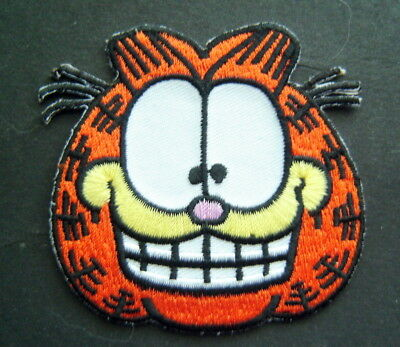 """GARFIELD the Cat Orange PATCH Die Cut Figure  2 3/4"""" by 2 3/4"""" Iron or Sew On"""