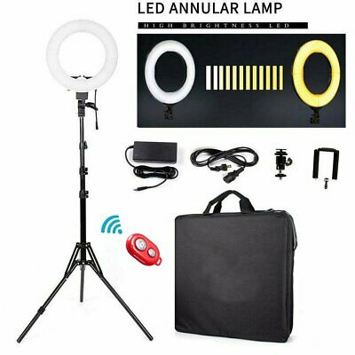 """12"""" LED Photography Ring Light Dimmable 5500K Lighting Photo Video Stand USA"""