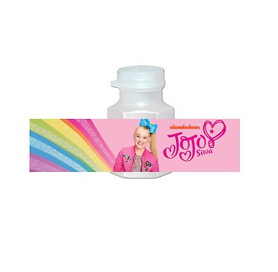 f27b597284 20 JoJo Siwa Girl Party Favors Bubbles Labels for Treat Birthday Gift Bags