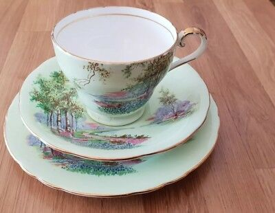 Trio Tea Cup, Saucer and Plate Vintage Aynsley England Bone China