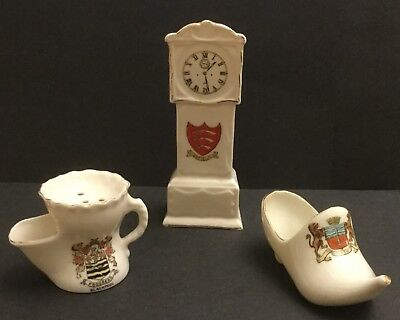 Collection of Gemma, Carlton and Coronet Crest Ware. Clock, Shoe and Shaving Mug