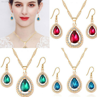 37ED Necklet Accessories Gold Necklace Gorgeous Gold Crystal Women Jewelry Gift