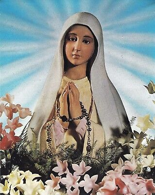 Lot of 100 Postcards Our Lady of Fatima Virgin / Virgen de FATIMA Print Image