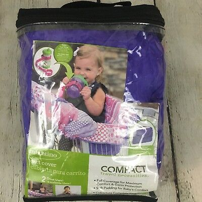 Infantino Compact 2-in-1 Shopping Cart Cover Pink Purple Highchair Cover Travel