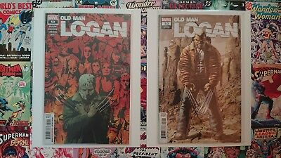 Old Man Logan #50 Trade & Variant Cover. New Bagged and Boarded. Key Last Issue