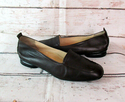 BRUNATE DAMEN LEDER Schuhe Halbschuhe Loafer Slipper Ballerina Shoes Braun Gr 39