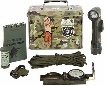 KAS Kids Army Explorer Kit Junior Camo Military Soldiers Childrens Toy Gift New