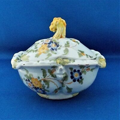 ANTIQUE ITALIAN  NOVE FAIENCE TRIFOIL TUREEN AND COVER  - 18/19th. Century.