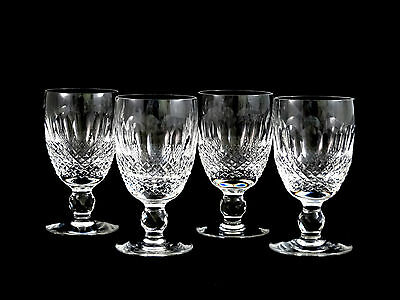 Waterford Crystal Colleen Claret Red Wine Glasses Set of 4