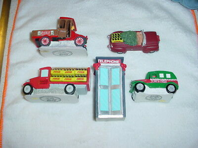9 Various Coca Cola Accessory Figures 1992-1997 Town Square Collection