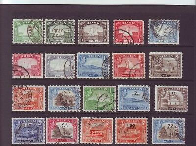 Aden  20stamps  used