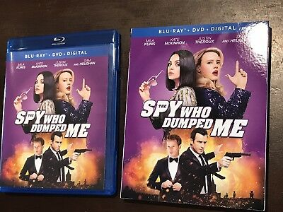 The Spy Who Dumped Me Blu-ray Disc &Case ONLY 2018 Never Used With Slipcover