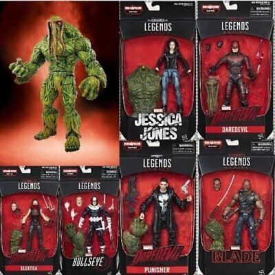 "Marvel Knights Legends Series Set of 6 Netflix Man-Thing 6"" Inch Action Figure"