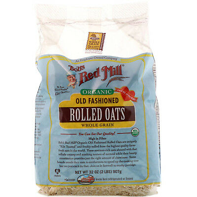 Bob s Red Mill  Organic Old Fashioned Rolled Oats  Whole Grain  32 oz  2 lbs
