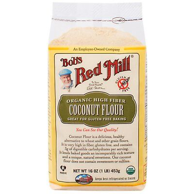 Bob s Red Mill  Organic High Fiber Coconut Flour  Gluten Free  16 oz  453 g