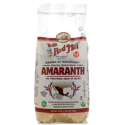 Bob s Red Mill Organic Whole Grain Amaranth 24 oz 680 g Gluten-Free, Kosher,