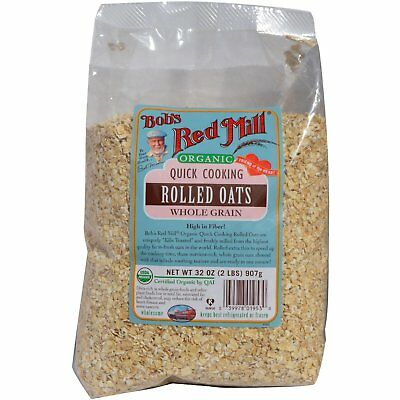 Bob s Red Mill  Organic Quick Cooking Rolled Oats  Whole Grain  32 oz  2 lbs