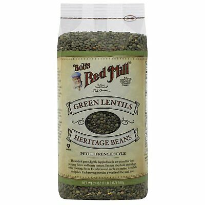 Bob s Red Mill  Green Lentils Heritage Beans  Petite French Style  24 oz  680 g