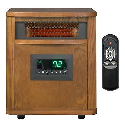 Lifesmart Heater 1500W,  6-Element, Home Wood Cabinet Infrared Heater w/ Remote