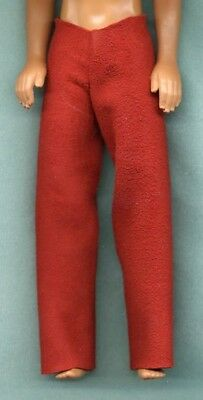 LONG PANTS SNOW WHITE GENUINE SUEDE LEATHER LINHILL KEN DOLL CLOTHES