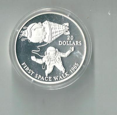First Space Walk,20 Dollars,Kiribati,1993,Silber,PP
