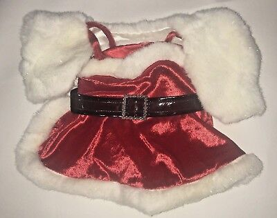 Build A Bear Workshop Mrs Santa Claus Costume Outfit Dress Holiday Christmas