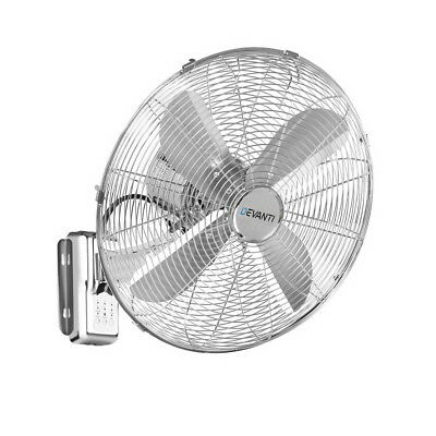 "Devanti 40cm 16"" Wall Mountable Fan - Silver"