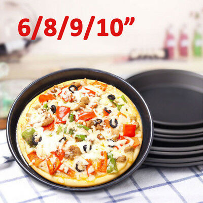 Pizza Pan Non-stick Pie Tray Baking Tool Fried steak High temperature resistant