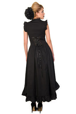 Banned Black Gothic Copper Victorian Dress Black  Fashion