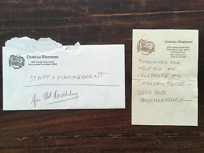 1171983c415c Robert Rauschenberg Chateau Marmont-Hollywood Signed Thank You Letter.  Excellent
