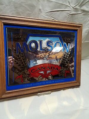"""Molson Mirror Imported from Canada North America's Oldest Brewery 20""""x16"""""""