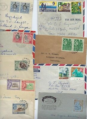 BRITISH COMMONWEALTH 1950s 60s LARGE COLLECTION OF 18 COMMERCIAL COVERS FRANKED