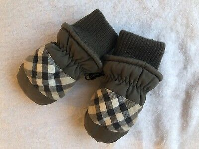 Orig. Burberry Winter Kinder Baby Handschuhe Gloves Fäustlinge Nova Check Gr. 12