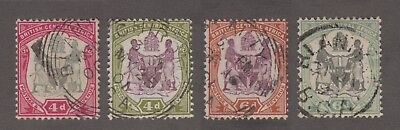 Br. Central Africa - 1897-1902 Arms Issues. Sc. #46-9, SG #45//58. Used