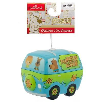 NWT Hallmark Disney Decoupage Christmas Ornament Scooby-Doo Mystery Machine Van