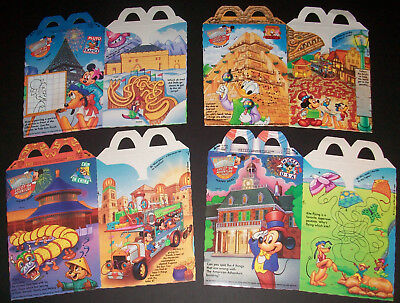 McDonald's Happy Meal Boxes Mickey & friends EPCOT '94 Adventure Kids Fast Food