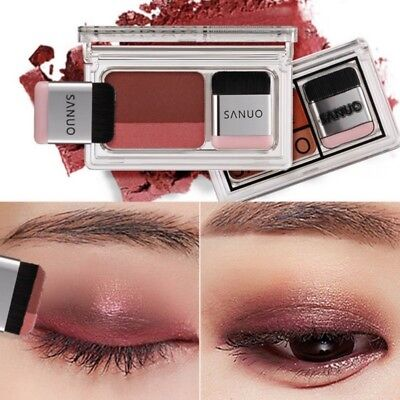 Double Color Women's Fashion Lazy Shadow Eyeshadow Makeup Palette Pigment